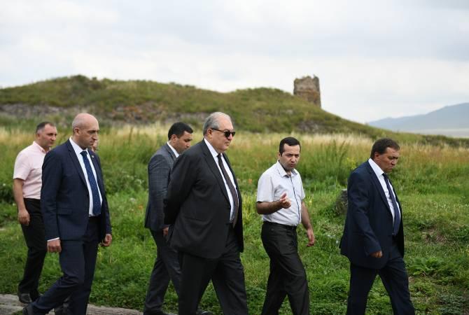 Հայրենաճանաչությունը սկսվում է պարզ սիրուց․ նախագահ Սարգսյանն այցելել է Լոռի բերդ