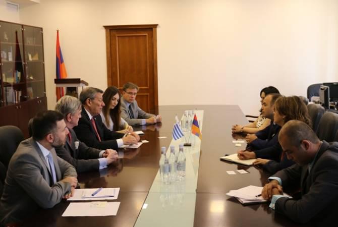 Armenian High Commissioner for Diaspora Affairs meets Uruguay's FM