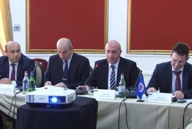 В полиции РА состоялось заседание рабочей группы глав правомочных органов стран- членов ОДКБ