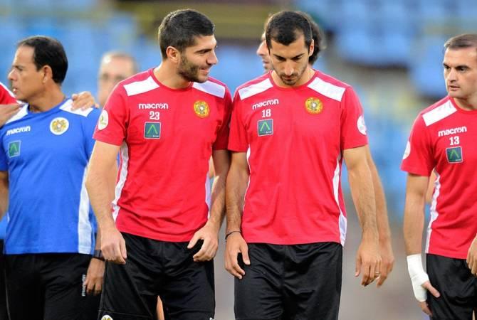 Известен стартовый  состав сборной  Армении в матче  с командой  Боснии и Герцеговины