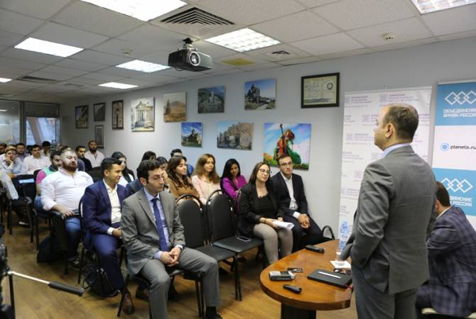 Armenian students of Russian universities present proposals to Zareh Sinanyan