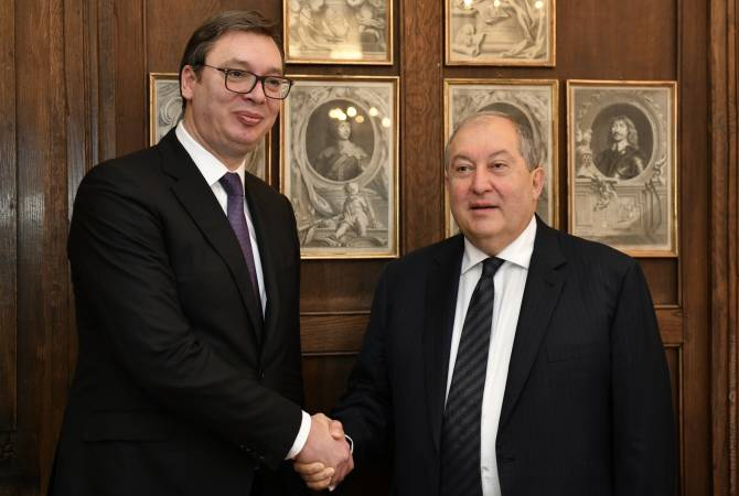 Looking forward to your upcoming official visit to Serbia – President Vučić to Armenian counterpart