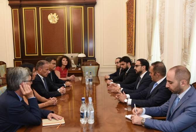 Тигран Авинян принял делегацию компании ''Урбасер''