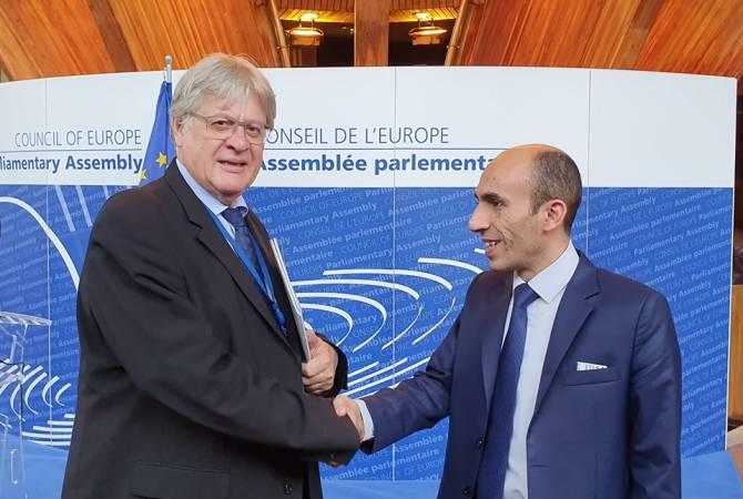 Артак Бегларян в Страсбурге обсудил вопросы защиты прав арцахцев