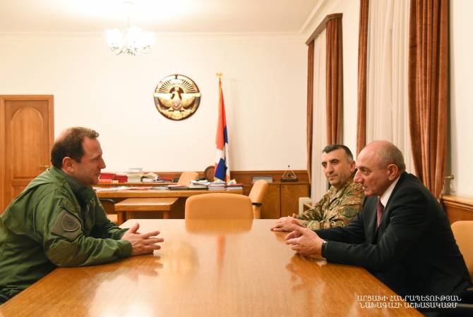 Artsakh President, Armenia's Defense Minister hold meeting