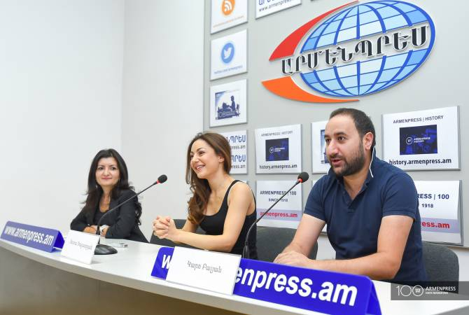 Press conference of stage director Karo Balyan and actress Tata Khachatryan