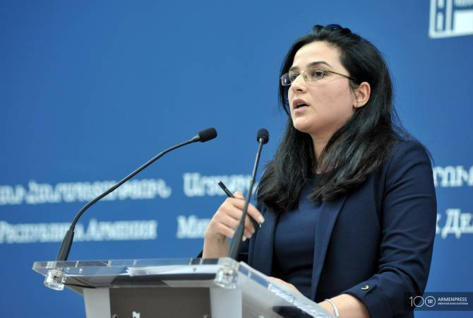 Foreign ministry spokesperson Anna Naghdalyan's news briefing