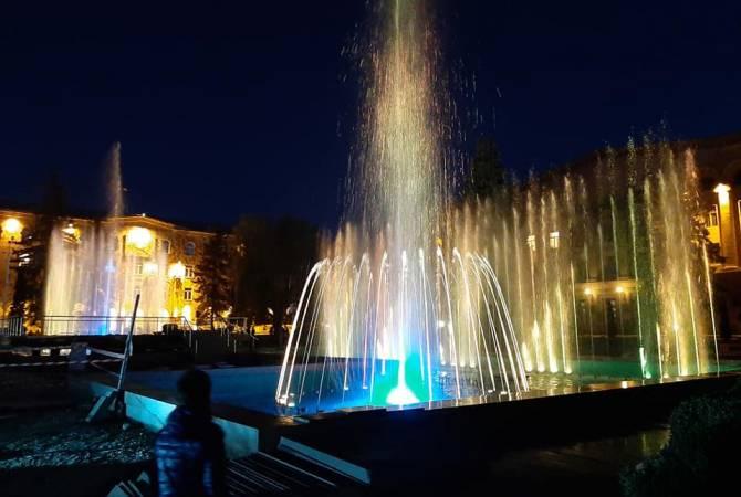 В Ванадзоре испытали беспрецедентные в регионе светозвуковые фонтаны