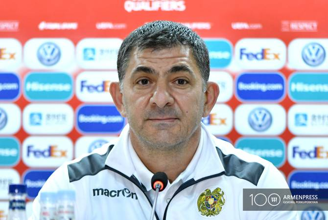 Head coach of Armenian National Football Team resigns