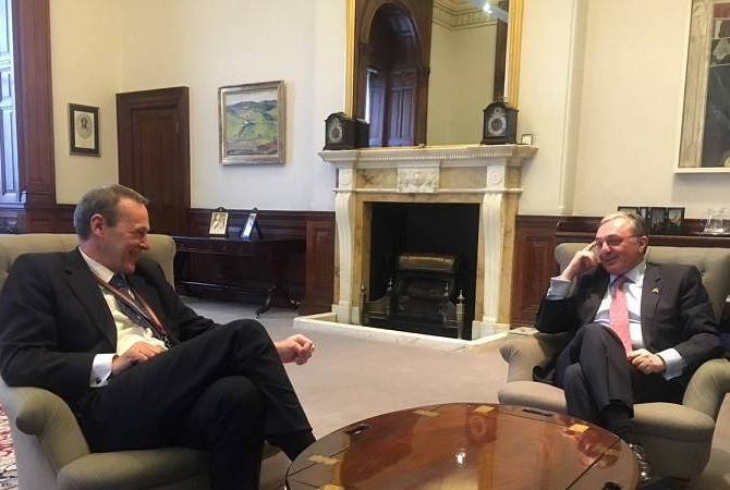 Armenian FM meets Permanent Under Secretary at UK Foreign and Commonwealth Office in 
