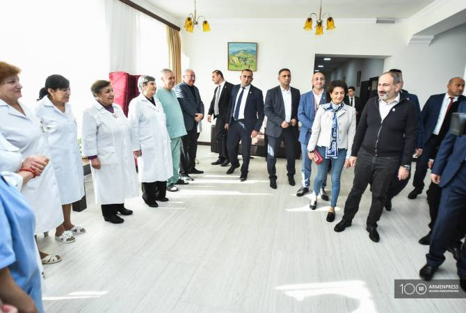 PM Pashinyan tours Vanadzor Armenia health resort