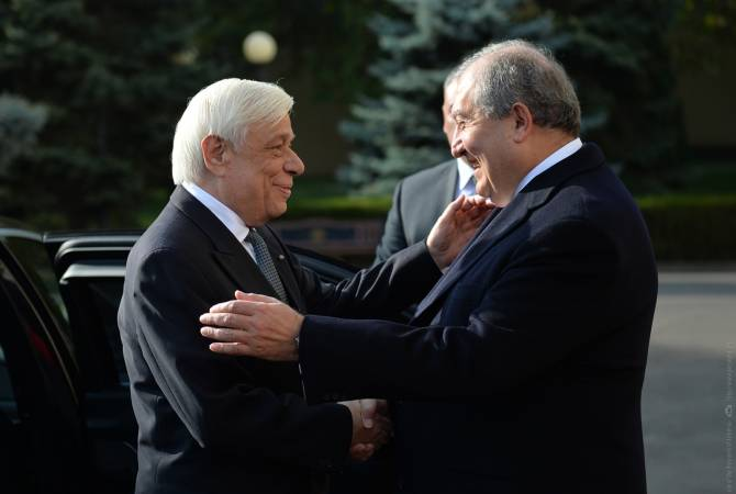Image result for визит президента Греции Прокопиоса Павлопулоса в Армению