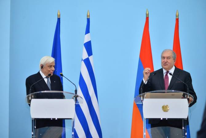 Armenian, Greek presidents deliver joint press conference in Yerevan