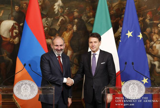 Italy is Armenia's 2nd business associate all the rage EU – PM Pashinyan