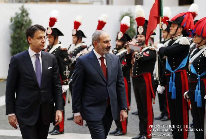 Հռոմում կայացել են Հայաստանի և Իտալիայի վարչապետների բարձր մակարդակի բանակցությունները