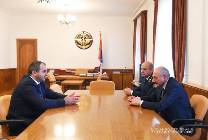 President of Artsakh receives Prosecutor General of Armenia