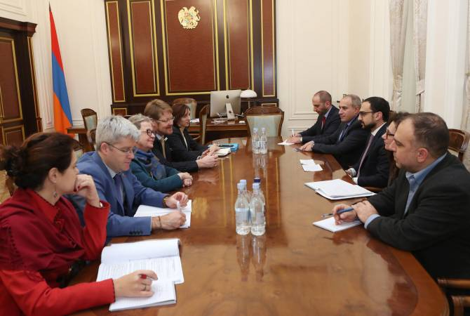 EU to continue supporting Armenia's reforms: Deputy PM Avinyan receives Union's delegation