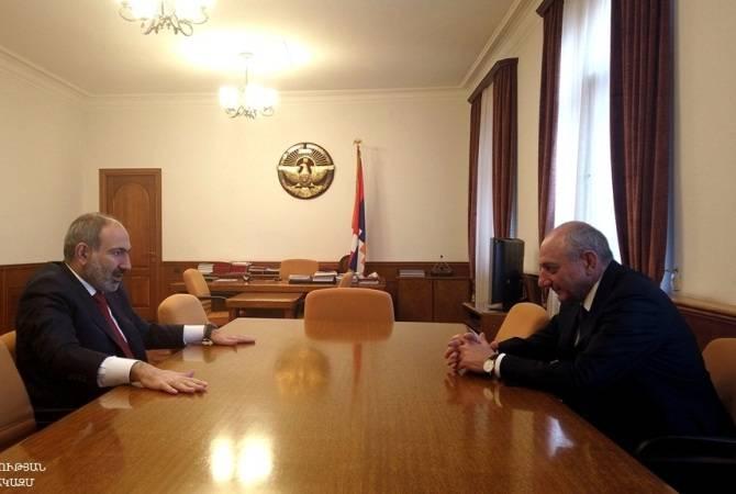 Бако Саакян и Никол  Пашинян  обсудили  широкий круг вопросов взаимодействия двух армянских государ