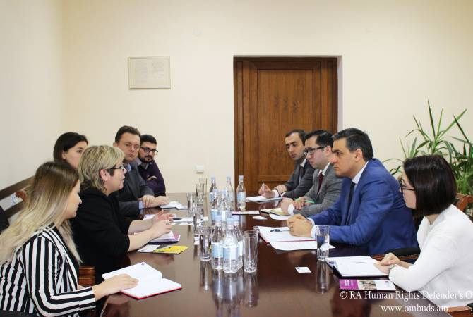 Armenia's Ombudsman receives CoE President of Conference of INGOs