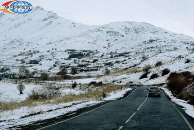 ՀՀ-ում ավտոճանապարհները հիմնականում անցանելի են. խորհուրդ է տրվում երթևեկել ձմեռային անվադողերով