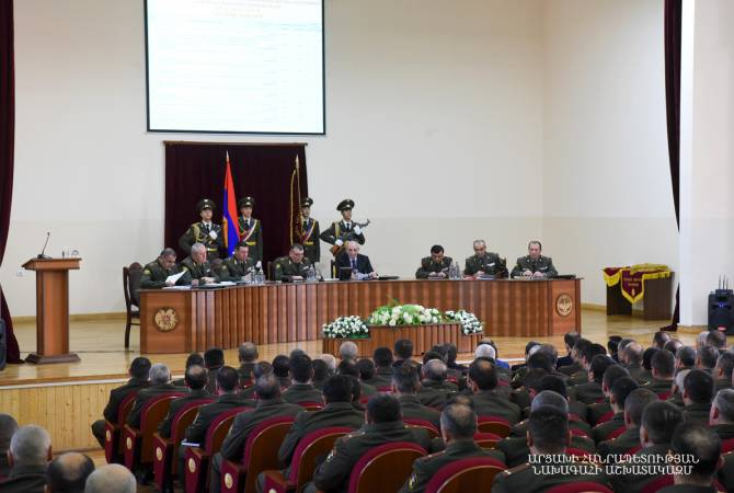 President of Artsakh attends meeting of Defense Army's Military Council