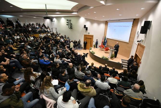 President Sarkissian delivers lecture at Israel's Holon Institute of Technology