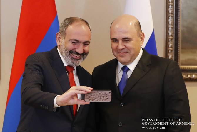 Prime Minister Nikol Pashinyan, Russian PM Mikhail Mishustin hold bilateral meeting