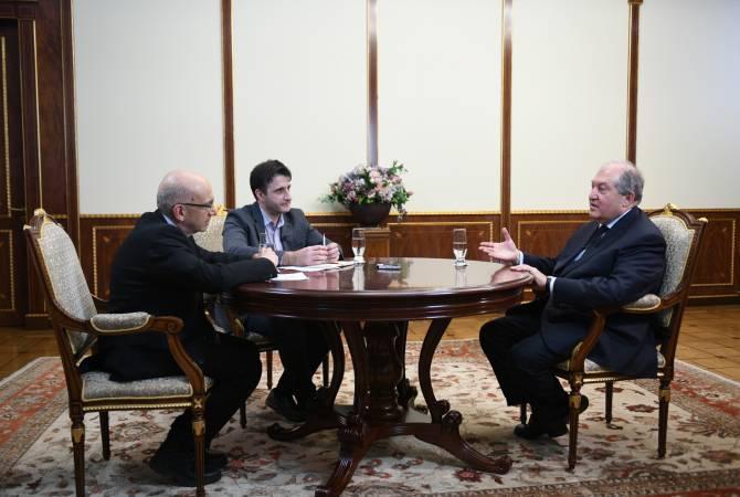 Я за то, чтобы усилить культуру обращения к народу: президент Армен Саркисян