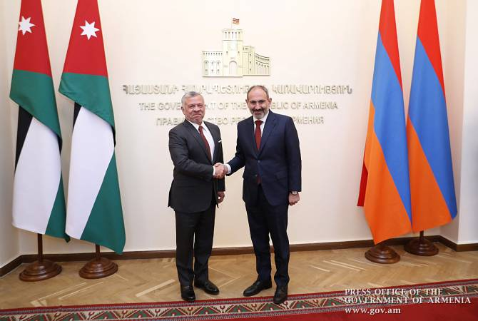 PM Nikol Pashinyan receives King Abdullah II of Jordan