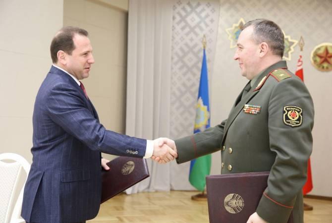 Министры обороны Армении и Беларуси обсудили перспективы развития военного сотрудничества