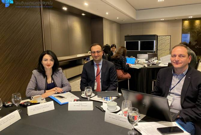 Armenian healthcare minister in South Korea on working visit