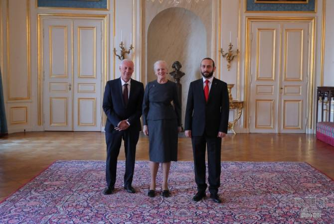 Queen Margrethe II of Denmark receives Armenian Speaker of Parliament