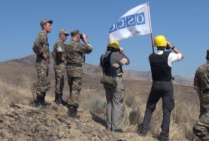 OSCE Mission conducts ceasefire monitoring at Artsakh-Azerbaijan line of contact