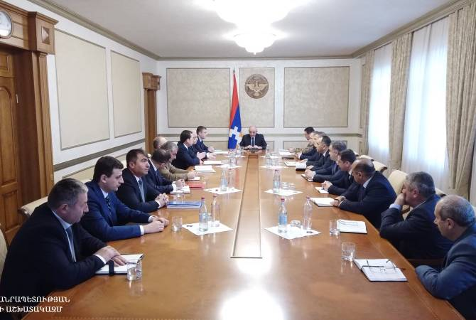 Artsakh's President chairs consultation with participation of heads of regional administrations
