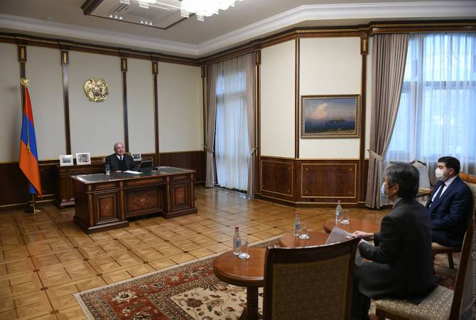 Armenian President holds meeting with Japanese Ambassador