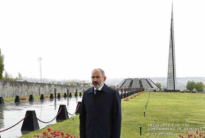 PM Pashinyan addresses message from Tsitsernakaberd Memorial on Armenian Genocide 105th anniversary