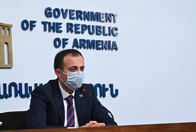 Healthcare Minister Arsen Torosyan's news briefing
