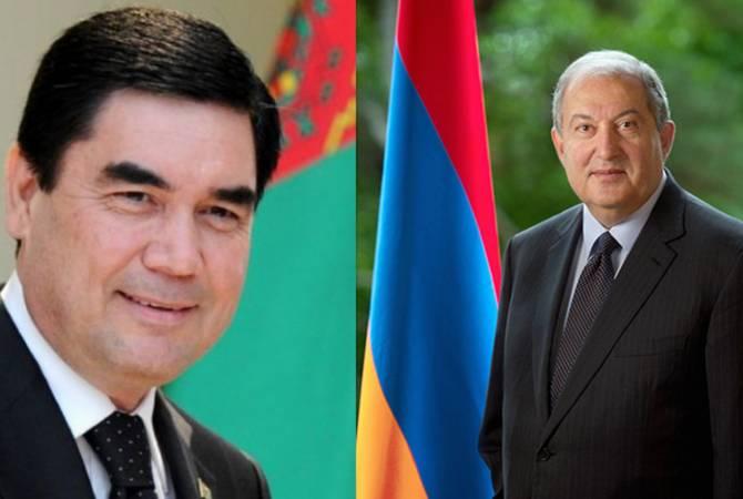 Նախագահ Սարգսյանին ծննդյան օրվա առթիվ շնորհավորել է Թուրքմենստանի նախագահ Բերդիմուհամեդովը