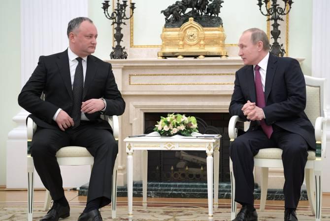 Додон поблагодарил Россию за продление режима беспошлинного экспорта