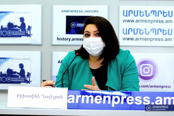 Press conference of deputy minister of territorial administration and infrastructures Kristine Ghalechyan