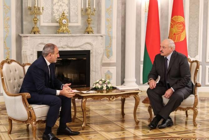 Armenian Prime Minister Nikol Pashinyan meets with President of Belarus Alexander Lukashenko in Minsk