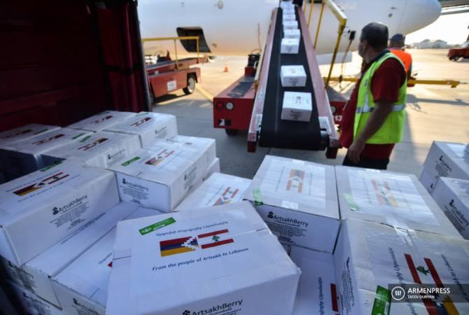 «Արցախի ժողովրդից Լիբանանին». մարդասիրական օգնությամբ ինքնաթիռ է ուղարկվել Բեյրութ