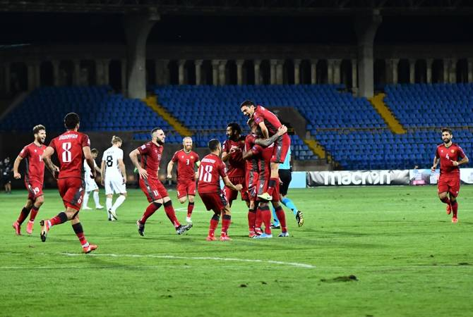 Armenia defeats Estonia in football match 2:0
