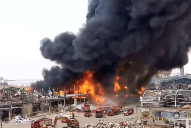 Fire erupts in Beirut port weeks after devastating blast