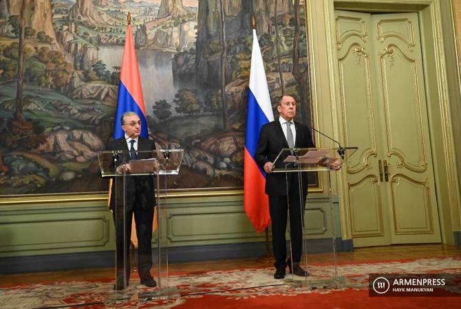 Armenian, Russian foreign ministers deliver news conference