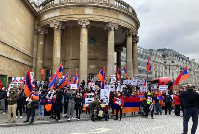 Armenians in London urge BBC to tell the truth about incidents taking place in Artsakh
