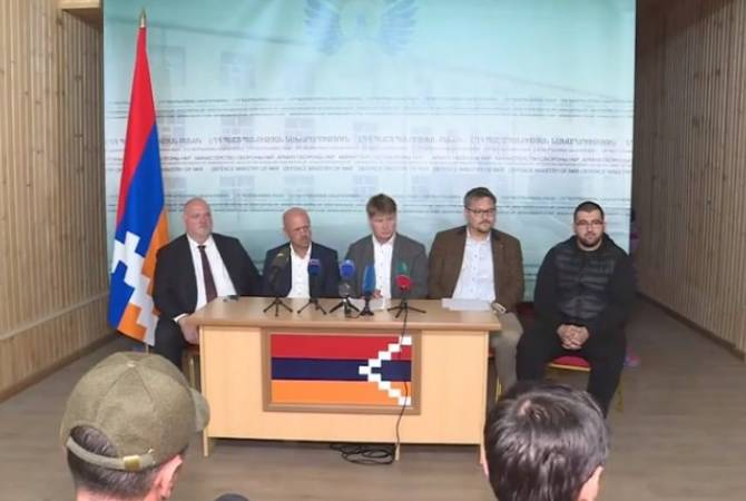 Bundestag lawmakers hold press conference after visit to Artsakh
