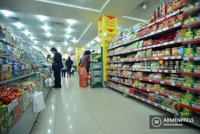 12-month inflation in Armenia's consumer market comprises 1.3%