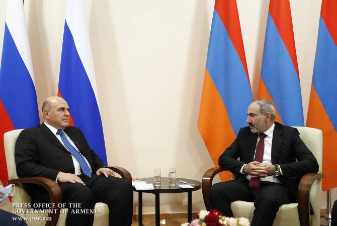 Pashinyan, Mishustin discuss cooperation agenda with Russia following ceasefire