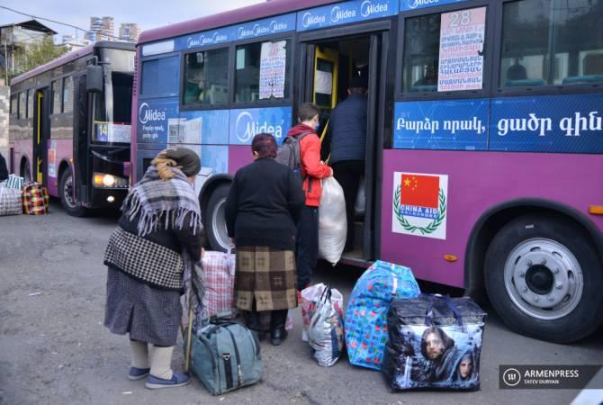 В Нагорный Карабах за сутки вернулись 846 беженцев
